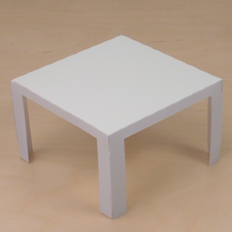 paper furniture for the dollhouse